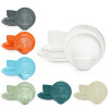 American Conventional Plate & Bowl Sets, Orange, 12-piece set slideshow image 13