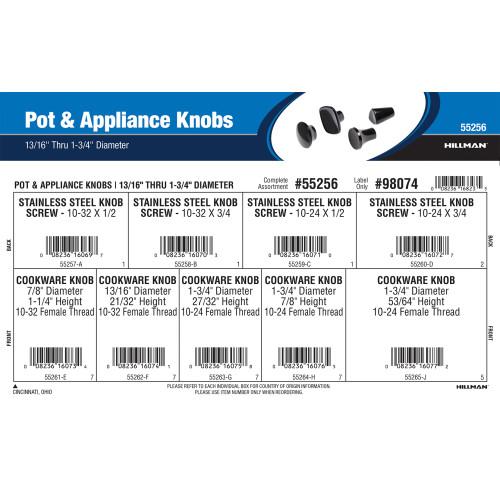 Pot & Appliance Knobs Assortment (13/16