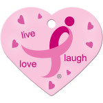 Susan G. Komen Live Laugh Love Large Heart Quick-Tag