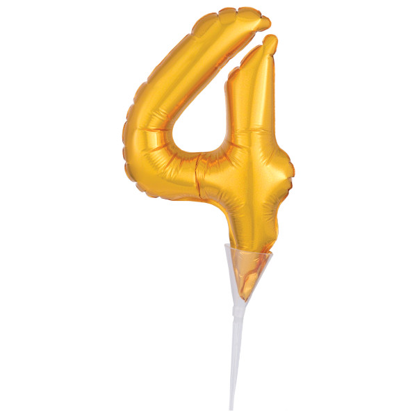 Inflatable Gold Numeral 4 DecoPics®