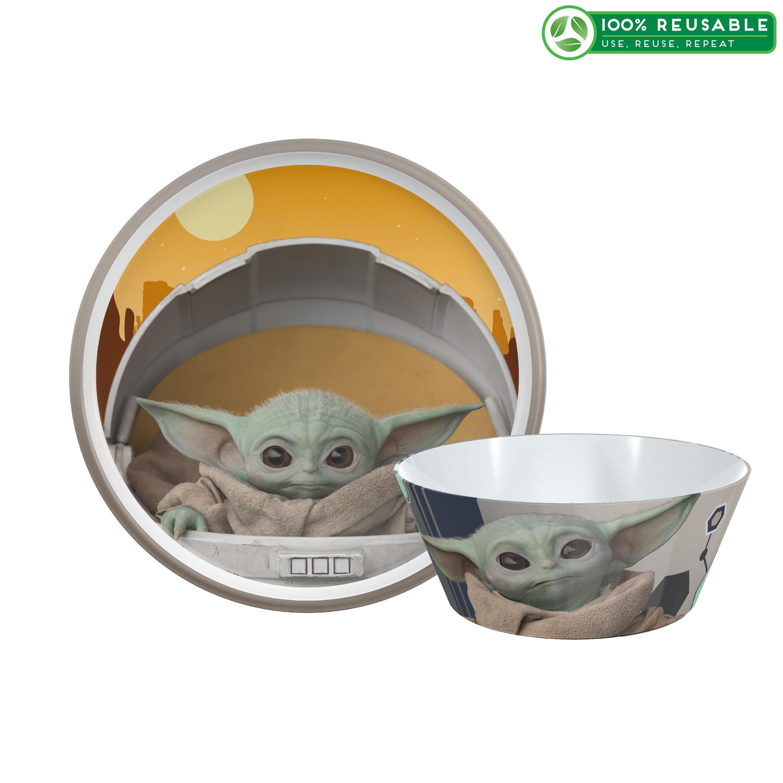 Star Wars: The Mandalorian Kids Dinnerware Set, The Child, 2-piece set slideshow image 1