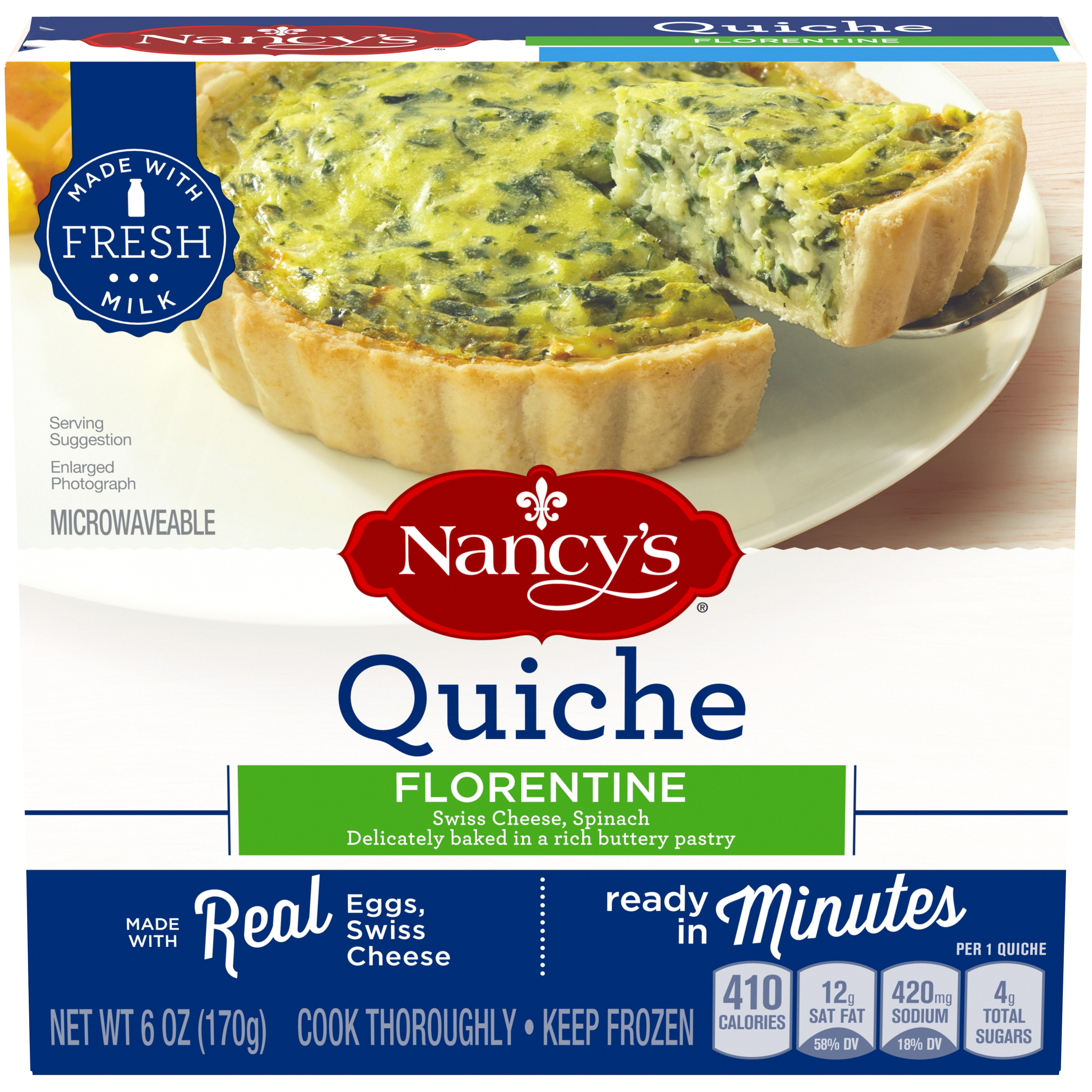 Nancy's(r) Florentine Quiche 6 oz. Box