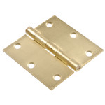 Hardware Essentials Square Corner Satin Bronze Door Hinges