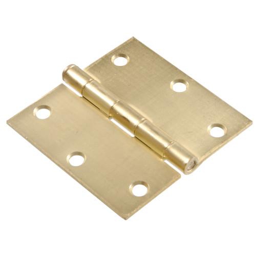 Hardware Essentials Square Corner Satin Bronze Door Hinges (3-1/2