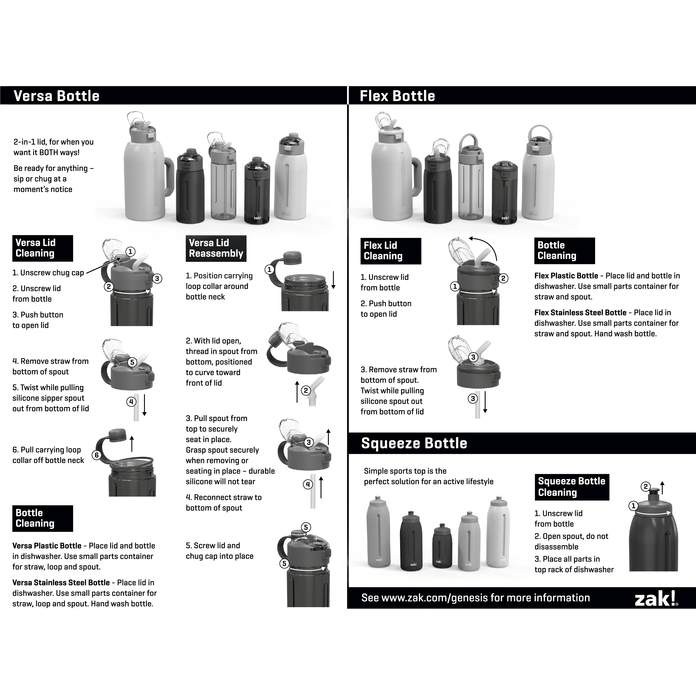 Genesis 18 ounce Water Bottles, Planet, 2-piece set slideshow image 14