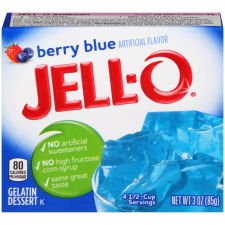 Jell-O Berry Blue Gelatin Mix 3 oz Box