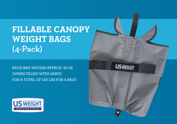 Titan Fillable Canopy Weight Bags - Set of 4 2