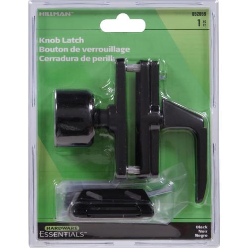 Hardware Essentials Black Knob Latch 1-3/8in