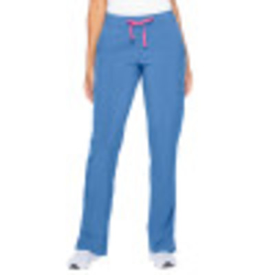 Smitten Miracle HOTTIE Scrub Pants for Womens: 4 Pocket, Contemporary Slim Fit, Super Stretch, Drawstring Waist Straight Leg Cargo Medical Scrubs S201002-