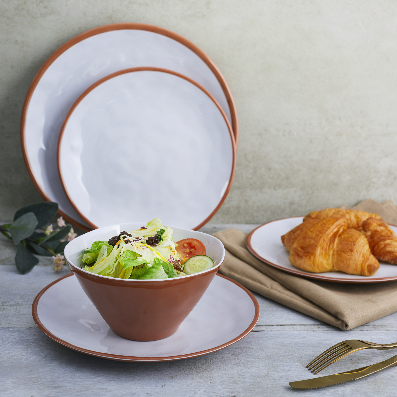 Zak Dinnerware 12-piece Dinnerware Set, Terra Cotta, 12-piece set slideshow image 4