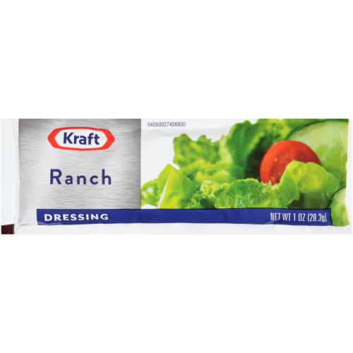 KRAFT Single Serve Ranch Salad Dressing, 1 oz. Packets (Pack of 100)