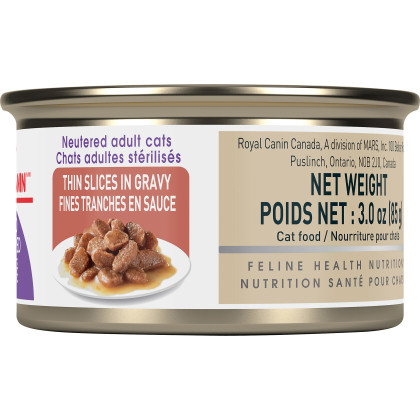 Royal Canin Feline Health Nutrition Spayed/Neutered Thin Slices In Gravy Canned Cat Food