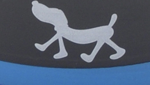 Maslow Design Series Non-Skid Pup Design Dog Bowls