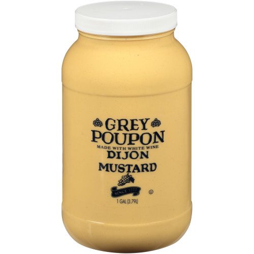 GREY POUPON Dijon Mustard, 1 gal. Jugs (Pack of 2)