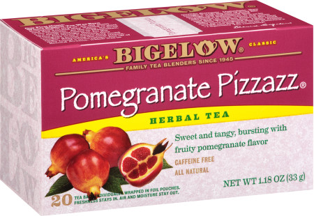 Pomegranate Pizzazz Herbal Tea - Case of 6 boxes- total of 120 teabags