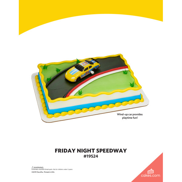 Friday Night Speedway DecoSet® The Magic of Cakes® Page