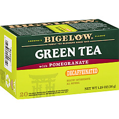 Green Tea with Pomegranate Decaf - Case of 6 boxes- total of 120 teabags