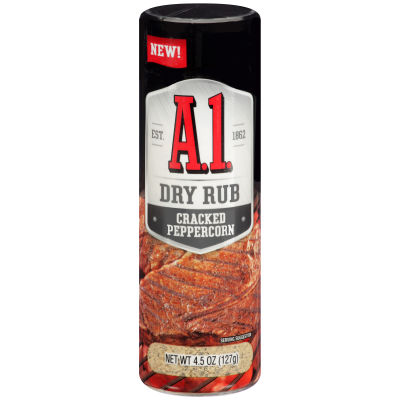 A.1. Cracked Peppercorn Dry Rub 4.5 oz Shaker Can