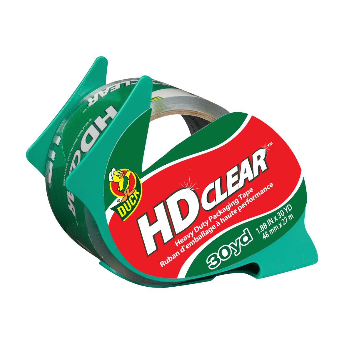 HD Clear™ Heavy Duty Packaging Tape with Dispenser - Clear, 1.88 in. x 30 yd. Image