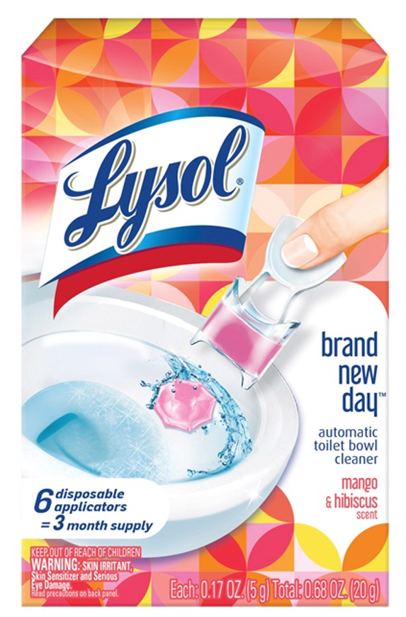 Lysol Brand New Day Automatic Toilet Bowl Cleaner Click Gel 6ct Mango & Hibiscus