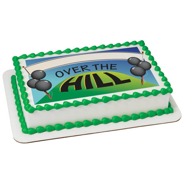 Over The Hill Banner PhotoCake® Edible Image®