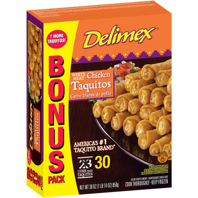Delimex White Meat Chicken Taquitos 30 count Box
