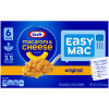 Kraft Easy Mac Original Macaroni & Cheese Dinner, 6 Packets, 12.9 oz Box