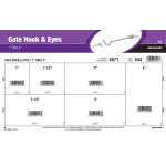 "Gate Hook & Eyes Assortment (1"" Thru 4"")"