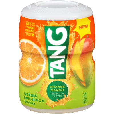 Tang Orange Mango Powdered Soft Drink 19.7 oz Canister