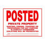 "Posted Private Property Sign (10"" x 14"")"
