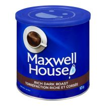 Café moulu de torréfaction riche et corsée Maxwell House