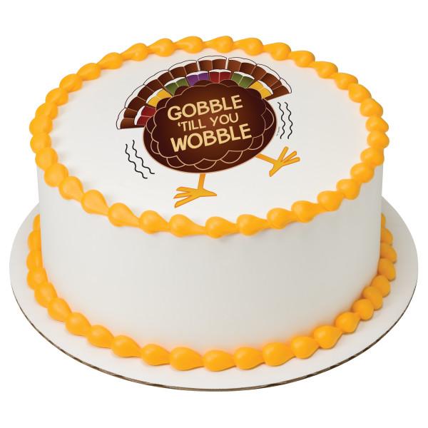 Gobble 'Til You Wobble PhotoCake® Edible Image®