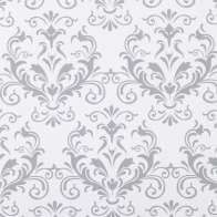 Swatch for Smooth Top® EasyLiner® Brand Shelf Liner - Grey Damask, 20 in. x 18 ft.