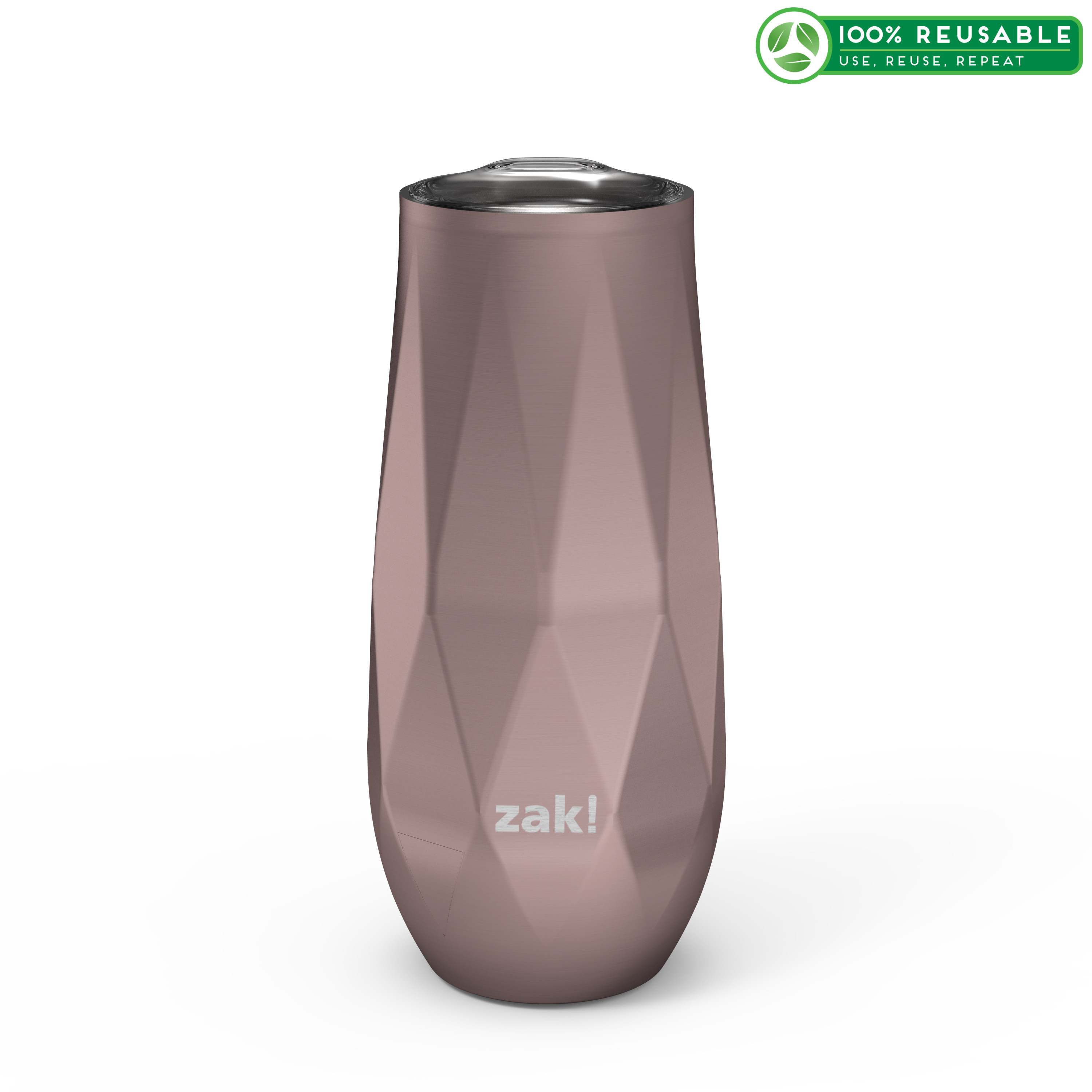 Fractal 9 ounce Vacuum Insulated Stainless Steel Tumbler, Rose Gold slideshow image 1
