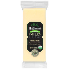 Hoffman's Natural Organic Cheddar Cheese 7 oz Wrapper
