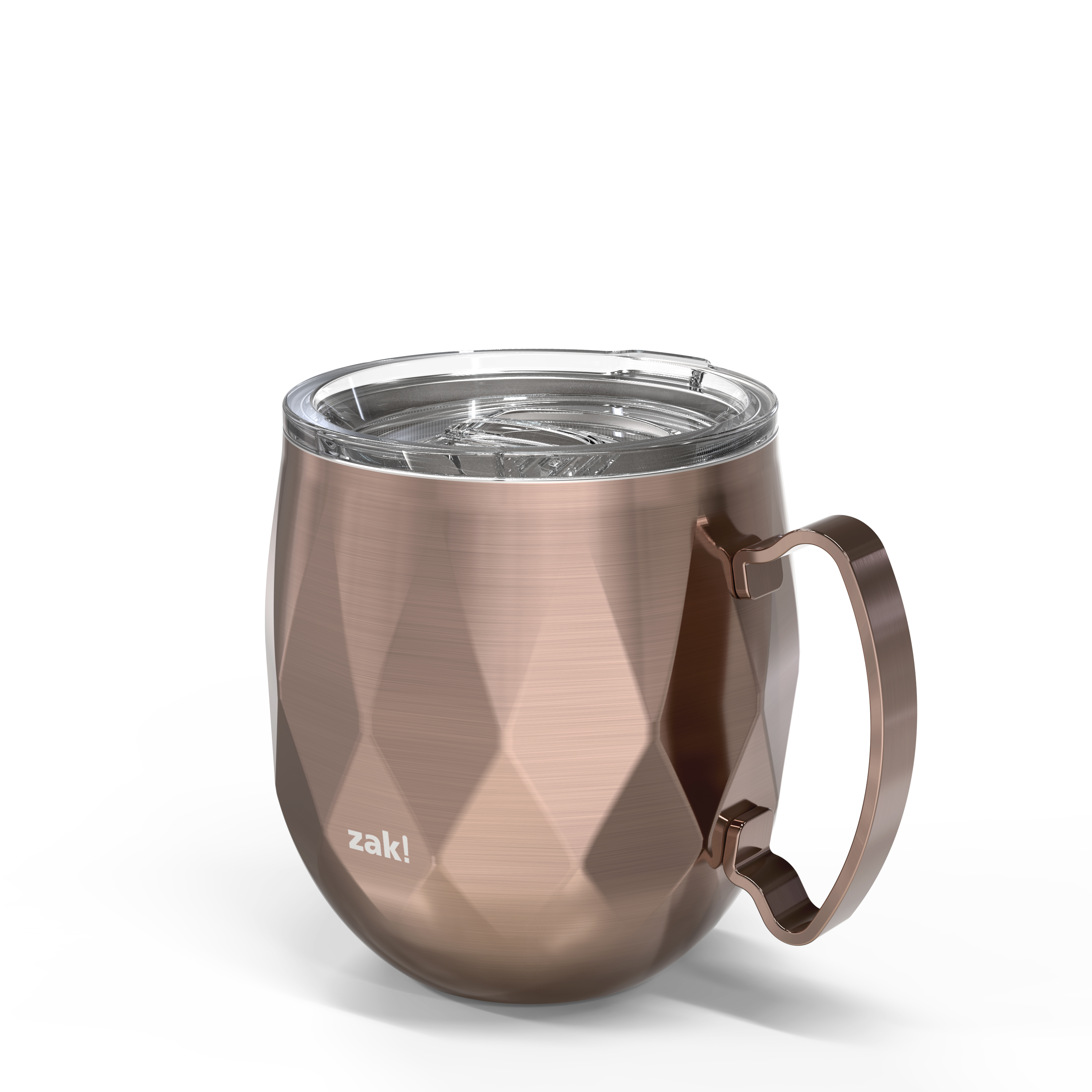Fractal 19 ounce Vacuum Insulated Stainless Steel Mule Mug, Rose Gold slideshow image 2