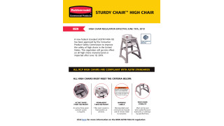 All RCP High Chairs are compliant with ASTM Standards