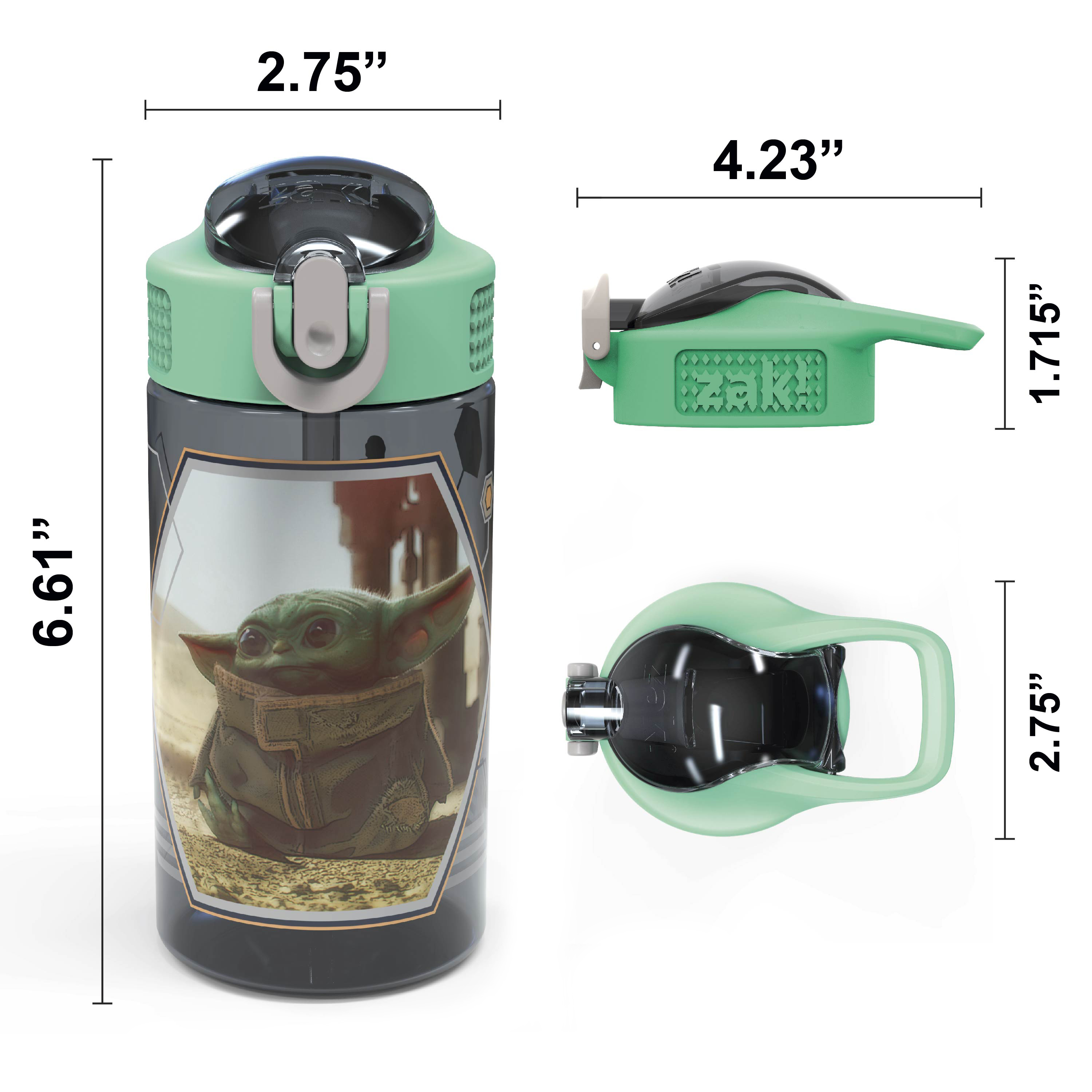 Star Wars: The Mandalorian 16 ounce Water Bottle, The Child slideshow image 4