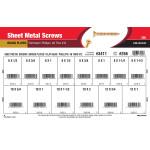 Phillips Flat-Head Brass Sheet Metal Screws Assortment (#6 thru #12)