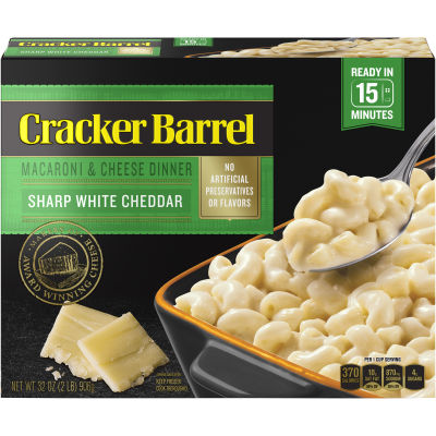 Cracker Barrel Sharp White Cheddar Macaroni & Cheese Dinner 32 oz Box