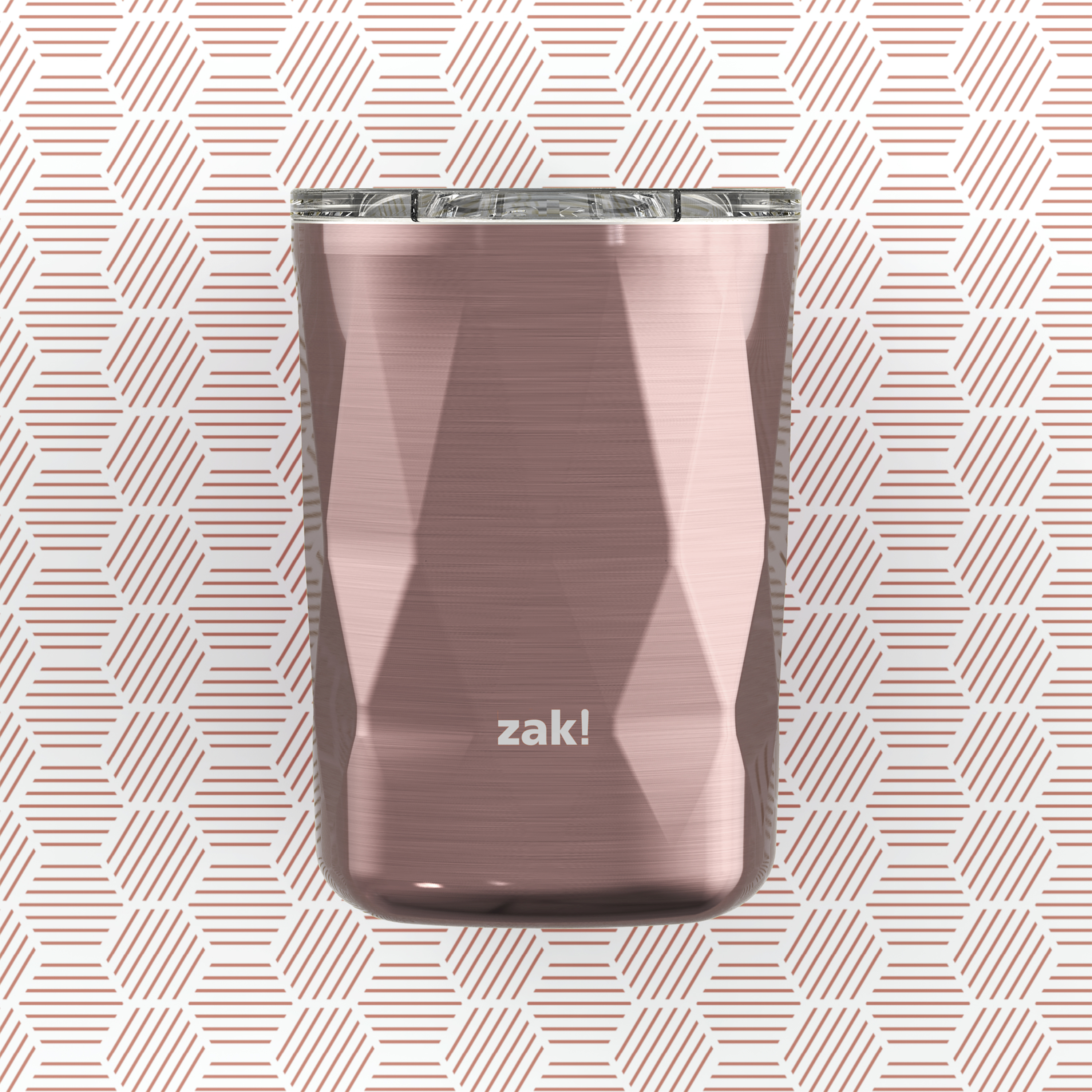 Fractal 13 ounce Vacuum Insulated Stainless Steel Tumbler, Rose Gold slideshow image 6