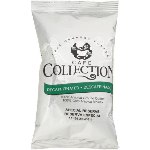 CAFÉ COLLECTIONS Special Reserve Roast & Ground Decaf Coffee, 2.25 oz. Bag (Pack of 20)