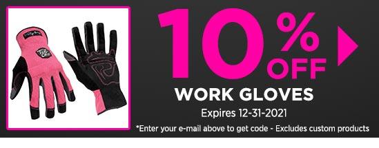 10% Off Work Gloves