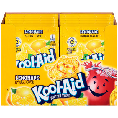 Kool-Aid Unsweetened Lemonade Powdered Soft Drink 0.23 oz Envelope