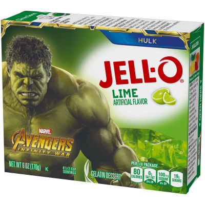 Jell-O Lime Instant Gelatin Mix, 6 oz Box