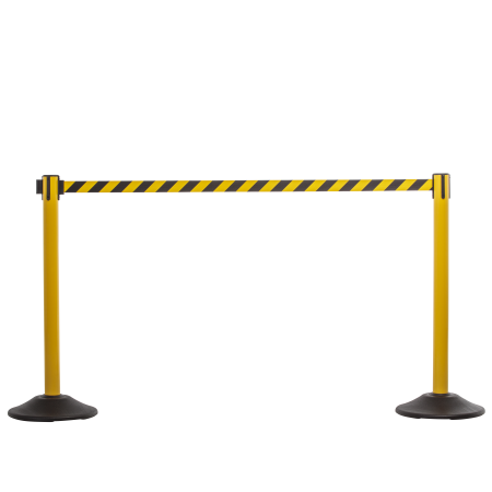 Premium Steel Stanchion - Yellow with CYB belt 1