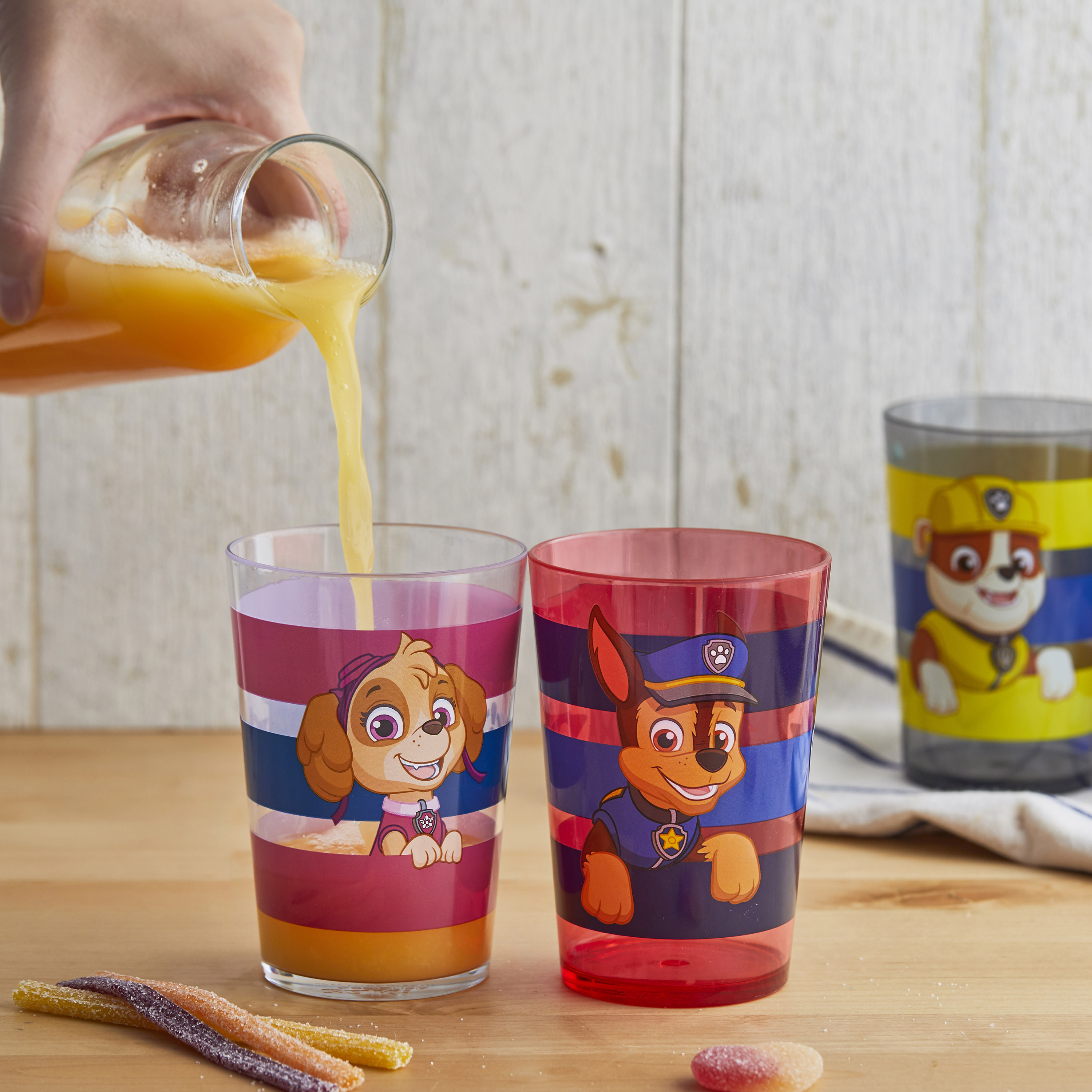 Paw Patrol 14.5 ounce Tumbler, Chase, Skye and Friends, 4-piece set slideshow image 3