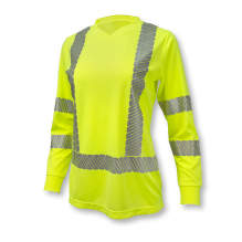 Radians ST21W Class 3 High Visibility Women's Long Sleeve Safety T-Shirt with Max-Dri™