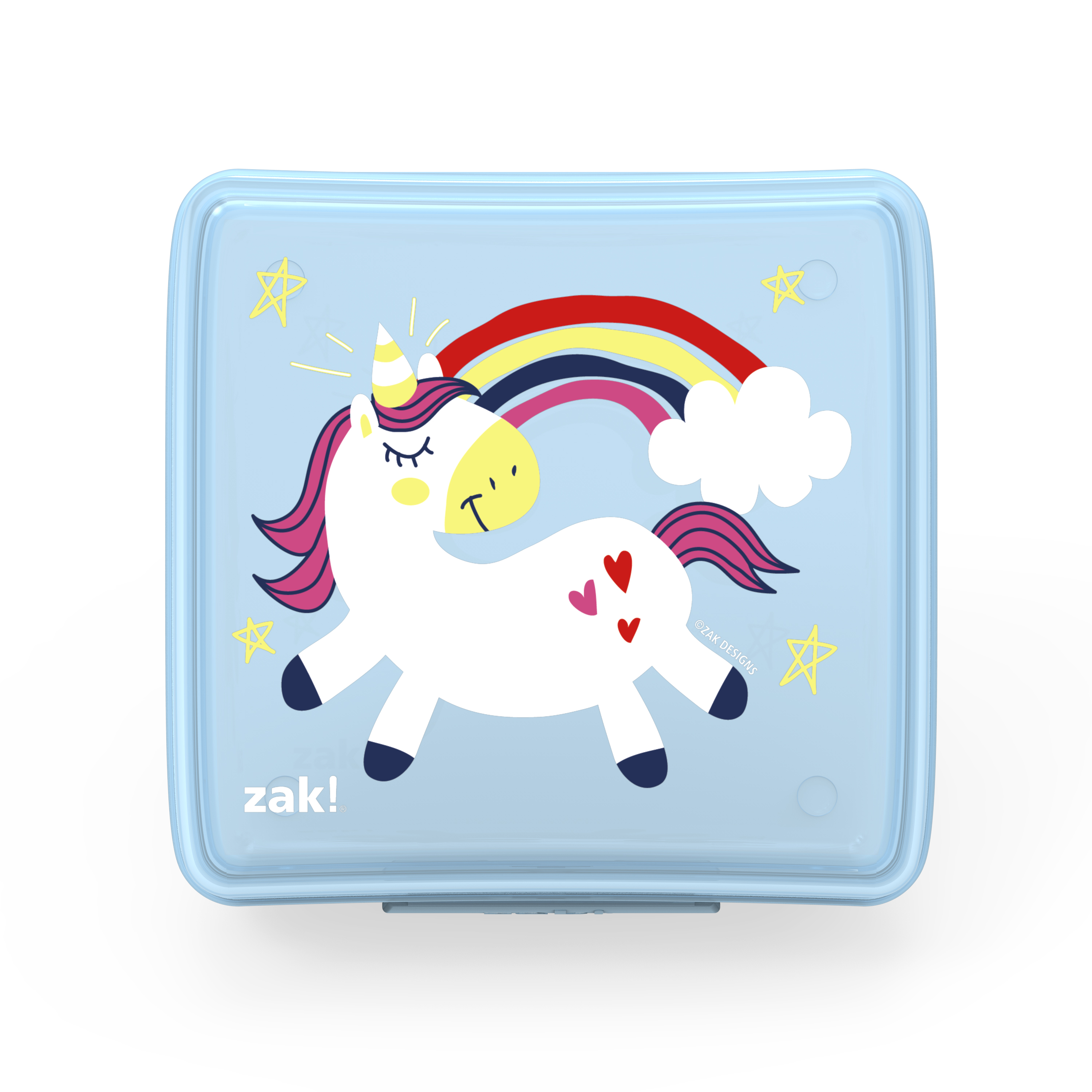 Happy Things Reusable Hinged Food Container, Unicorns slideshow image 1