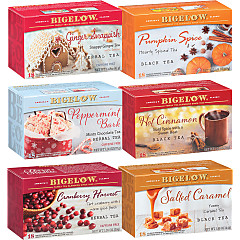 Mixed Case of 6 Bigelow Seasonal Teas - Case of 6 boxes - total of 108 teabags